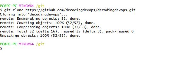git clone remote repository command
