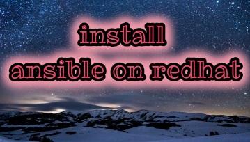 install ansible on rhel 7 redhat